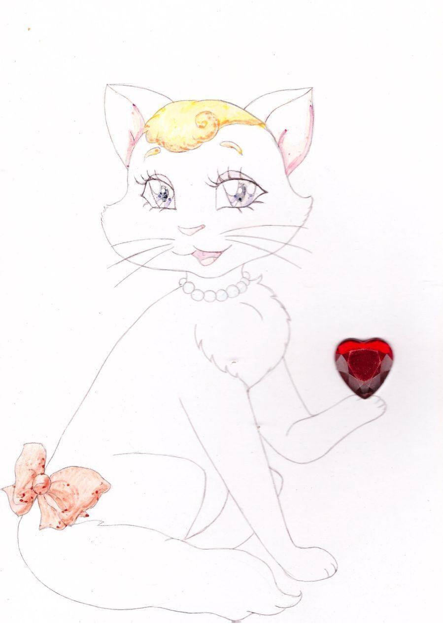 Как нарисовать открытку с котятами